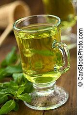 Fresh Mint Tea - Freshly prepared mint tea out of fresh...
