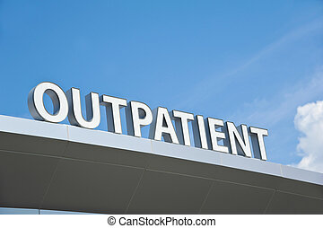 Outpatient Sign - Hospital Outpatient Surgery Center Sign