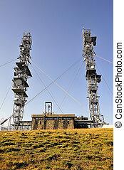 Antennas atop Mount Aigoual