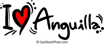 Anguilla love - Creative design of anguilla love