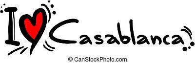 Casablanca love - Creative design of casablanca love