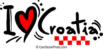Croatia love - Creative design of croatia love