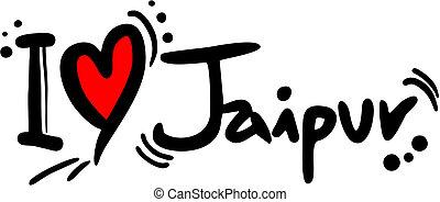 Jaipur love - Creative design of jaipur love