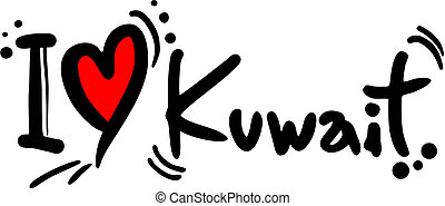 Kuwait love - Creative design of kuwait love
