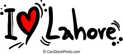 Lahore love - Creative design of Lahore love