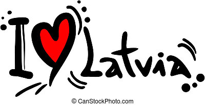 Latvia love - Creative design los latvia love