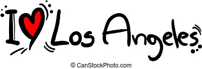 Los Angeles love - Creative design of los angeles love