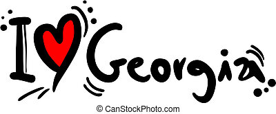 Georgia love - Creative design of georgia love