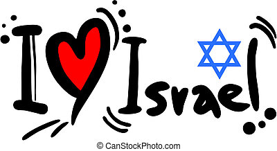 Israel love - Creative design of israel love