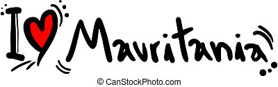 Mauritania love - Creative design of mauritania love