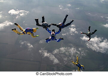 skydiving, groupe
