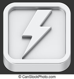 Lightning app - Lightning symbol rounded square shape...