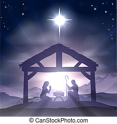 Christmas Manger Nativity Scene - Christmas Christian...