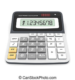 Modern office calculator on a white background