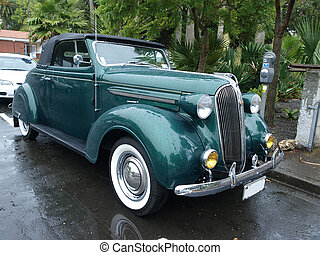 1937 Chrysler Wimbelton covered with raindrops