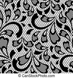 Old lace seamless pattern Vector texture