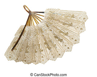 Antique Fan - Antique fan isolated with clipping path...