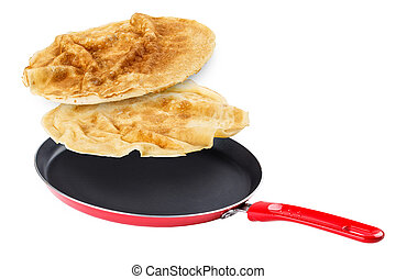 Pancake  - Frying pan with flying pancake