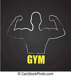 gym  design over black background vector illustration