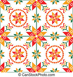 Seamless mexican pattern - Traditional Mexican clothing...