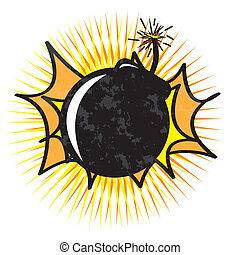 Bomb design over white  background vector illustration