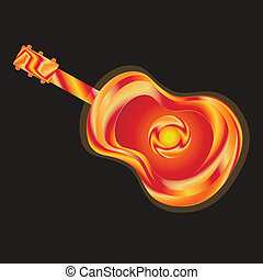 Guitar bright illustration - Guitar bright absrtact...