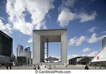 la grand arch, la defence - the grand arc in la defence...