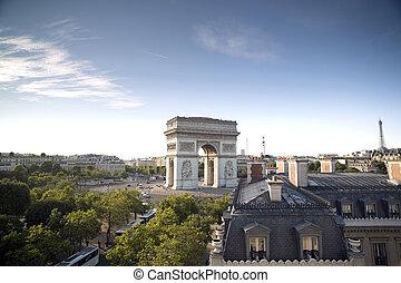 the arc de triomphe in paris, france