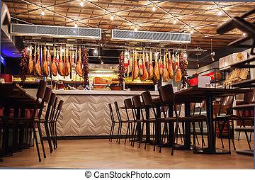 stylish Italian restaurant - interior of stylish Italian...
