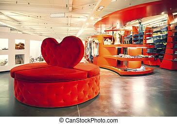 dress shop  - stylish interior of dress shop