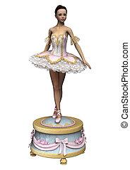 Ballerina - 3D digital render of a beautiful female ballet...