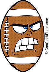 Angry American Football Ball