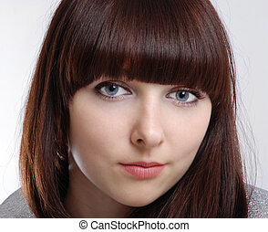 Portrait of teenage girl close-up