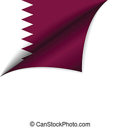 Qatar Country Flag Turning Page - Vector - Qatar Country...