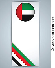 Emirates Country Set of Banners - Vector - Emirates Country...