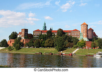 The Gothic Wawel Castle in Krakow, Poland