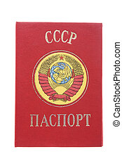 passport - object on white - Russia passport macro