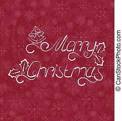 Christmas card, Merry Christmas lettering - Illustration...