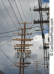 Telephone Poles - Storm and Telephone poles