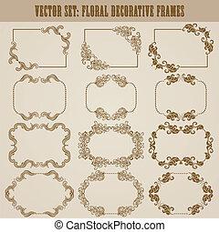 decorative frame - Vector set of decorative ornate frame...