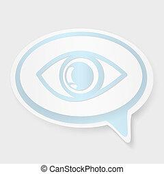 speech bubble eye