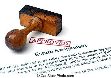 Estate assignment