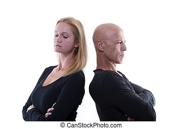 Argueing Couple - A Couple Which Argues or Is Mad and...