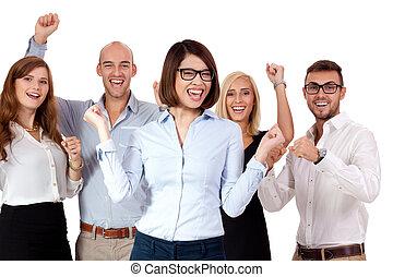 グループ, ビジネス, 人々, 一緒に, チーム, 幸せ