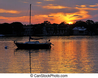 St Augustine Sunrise - Sunrise over Matanzas Bay in the city...