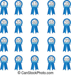 Anniversary ribbon - Blue ribbon with years to symbolize...