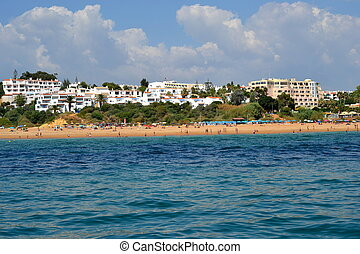 Beach Alemes, Albufeira, Algarve, Portugal, summer sea