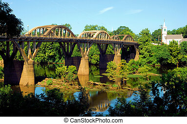 Bibb Graves Bridge over the Coosa River in Wetumpka,...
