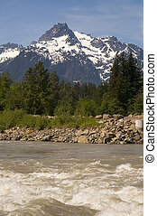 Whitehorse Mountain North Sauk River Cascade Mountains...
