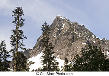 Rugged Jagged Peak North Cascade Mountain Range Washington...